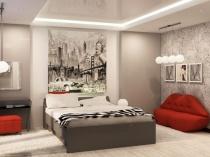 Пример зонирования спального места