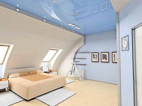 красивая отделка потолка на фото