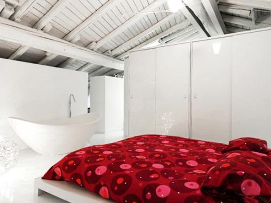мансардная спальня для подростков в стиле лофт