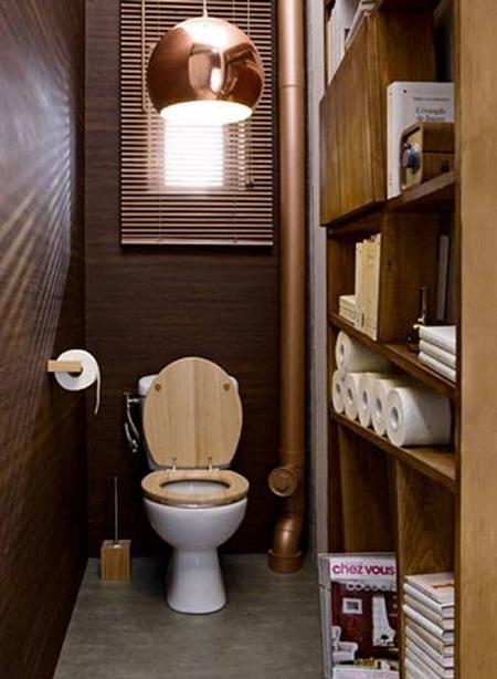Дизайн туалетной комнаты в стиле ретро