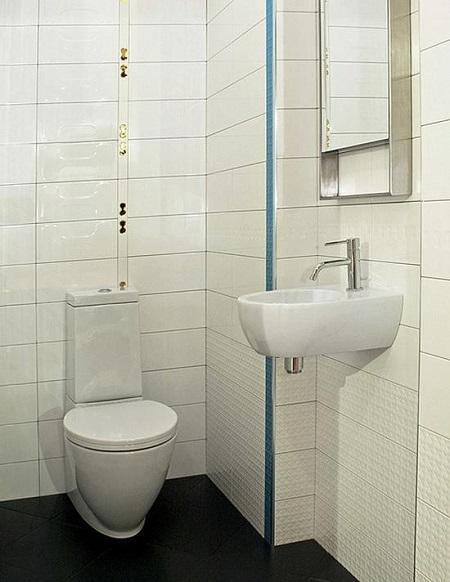 Расположение сантехники в туалете с выступом