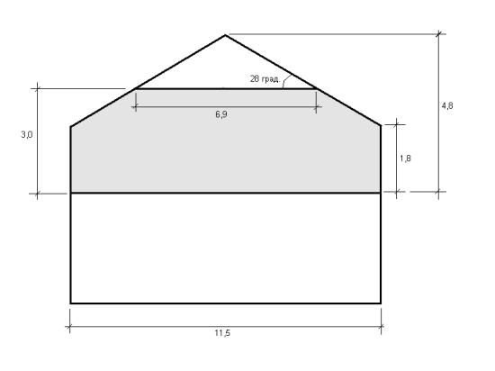 устройство стропильной системы крыши по типу полу-мансарды