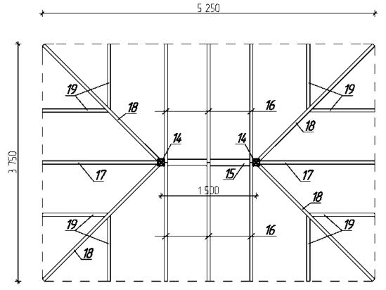 чертеж стропильной системы мансардной крыши