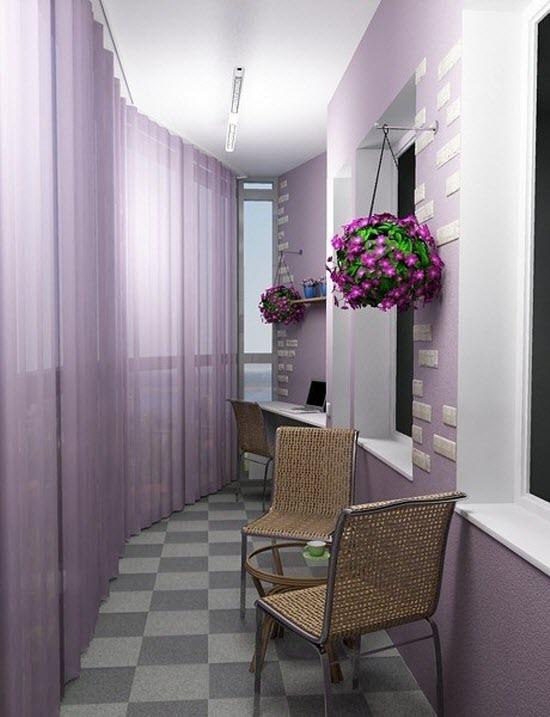 Фото красивого интерьера балкона во французском стиле