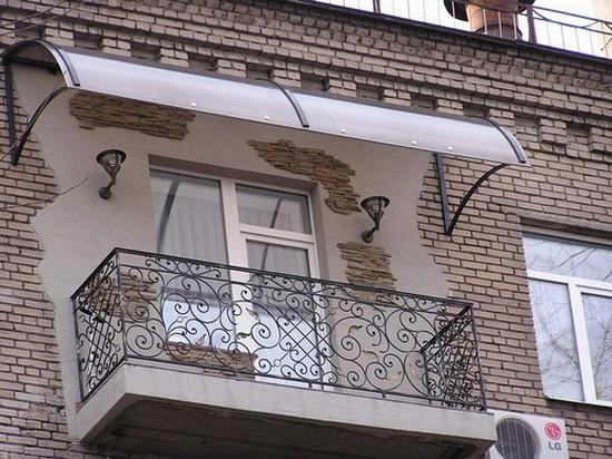 Независимая крыша для балкона