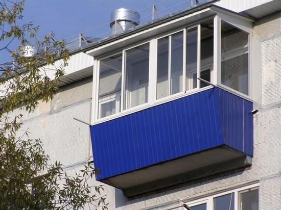 Крыша для балкона, зависимая конструкция