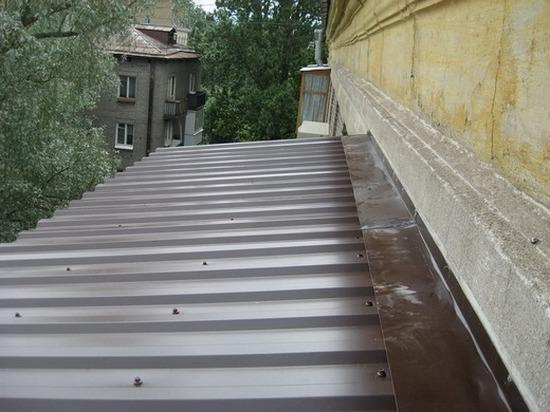 Крыша балкона - установка фартука