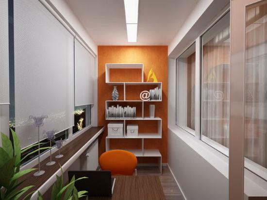 Контрастный дизайн балкона