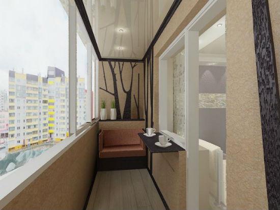 Минимализм в дизайне балконов сегодня в моде