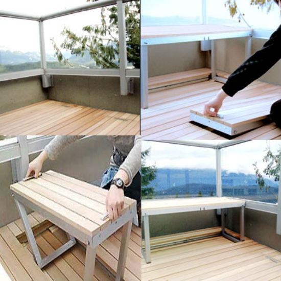 Интергрированная мебель для балкона или лоджии