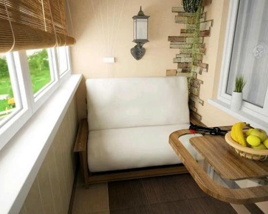Переделка балкона в комнату отдыха