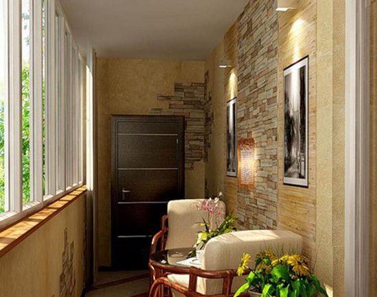 Кантри стиль для балкона