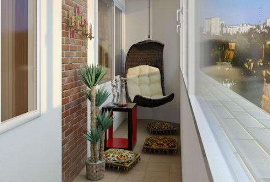 Идея оформления небольшого балкона