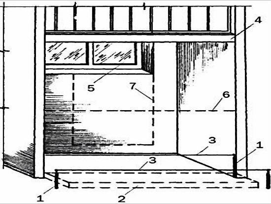 Чертеж конструкции балкона