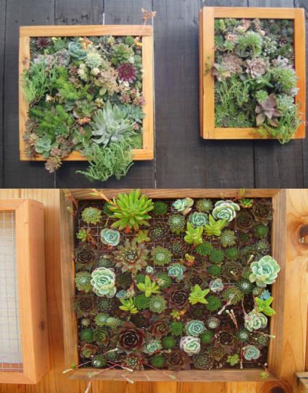 Пример вертикальных цветочных композиций