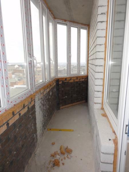 Балкон перед ремонтом