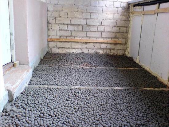 Утеплитель для балкона - керамзит