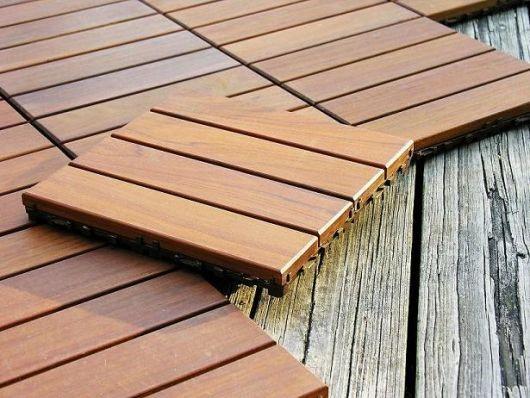 Деревянная плитка для балкона