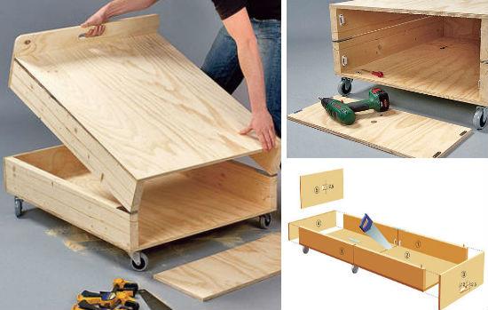 Кровать для установки на лоджию