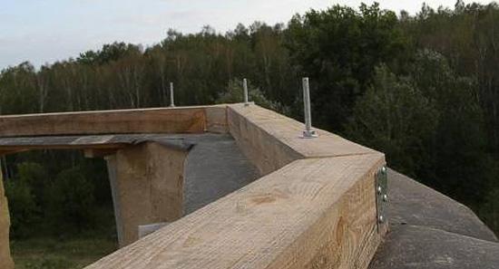 Крепление мауэрлата мансардной крыши