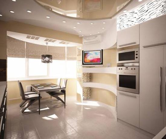 Дизайн лоджии, совмещенной с кухней