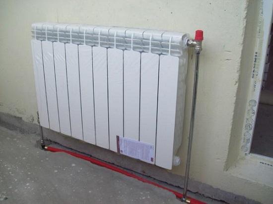 Подключение радиатора, вынесенного на лоджию