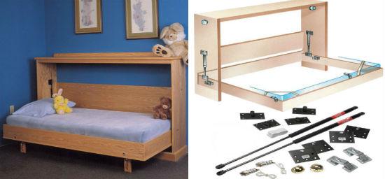 Кровать на газлифтах для лоджии