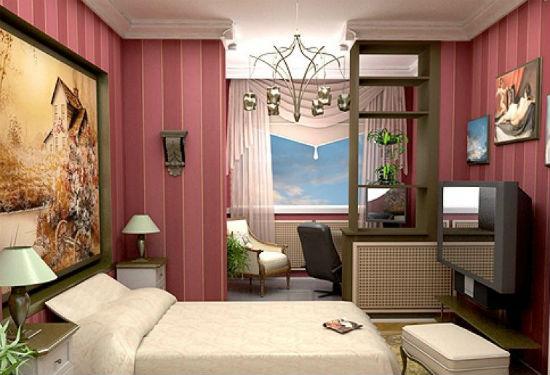 Лоджия, совмещенная со спальней