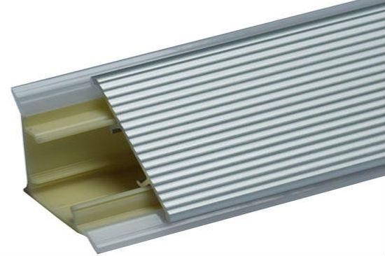 Алюминиевый рифленый плинтус для столешницы