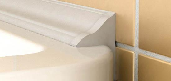 Керамический плинтус для ванны