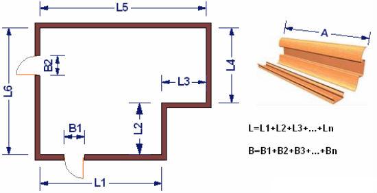План помещения для расчета плинтуса