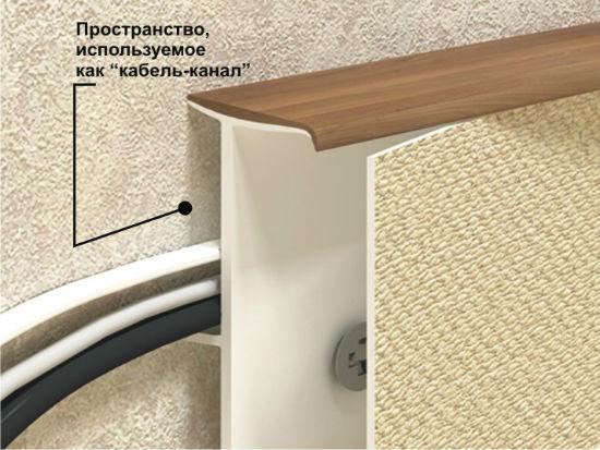 Плинтус для ковролина с кабель каналом