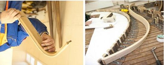 Закругление деревянного плинтуса
