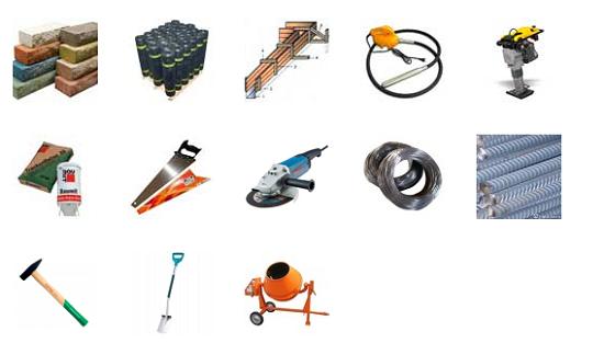 Инструменты для сооружения бетонного крыльца