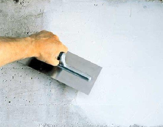 Шпатлевание бетонной лестницы крыльца