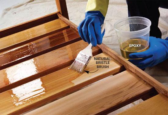 Окраска лестницы деревянного крыльца
