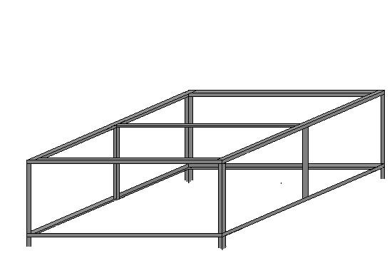 Каркас из уголка для металлического крыльца