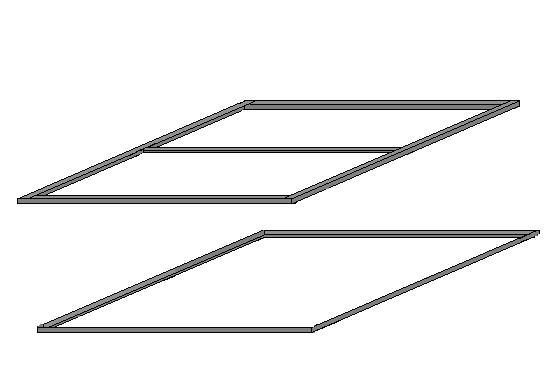 Нижняя и верхняя рамы металлического крыльца