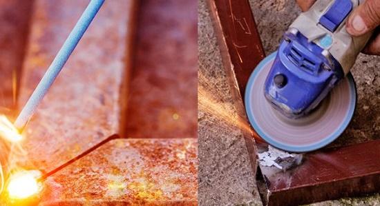 Сварка профтрубы для металлического крыльца