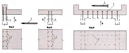 Чертеж жесткой сцепки оснований дома и крыльца