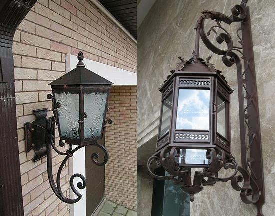 Кованые фонари для крыльца