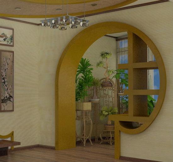 Арка со смещением между комнатой и балконом