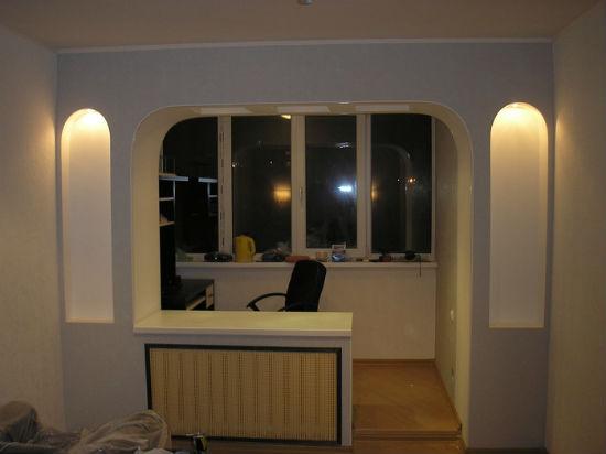 Арка на лоджию с сохранением балконного блока