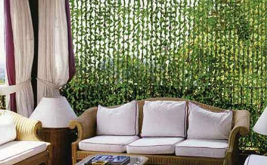 Декоративные веревочные шторы в беседке