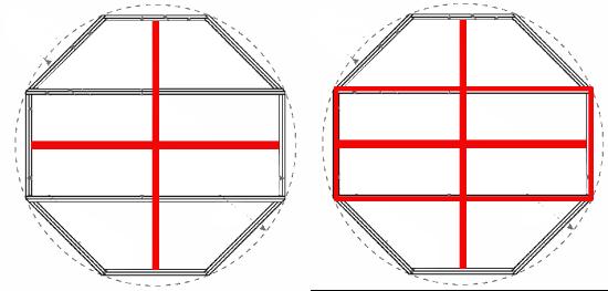 Начальная схема восьмигранной беседки
