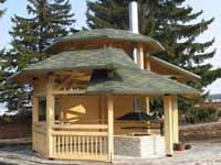 Ломаная крыша для беседки