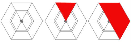 Схема чертежа шестигранной беседки