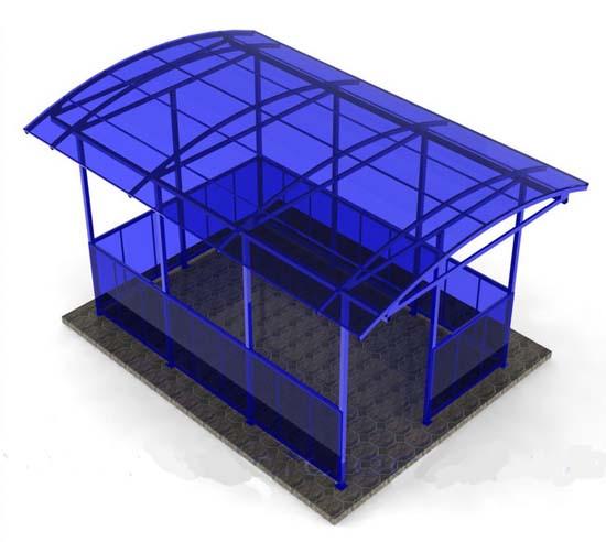 3d модель металлической беседки