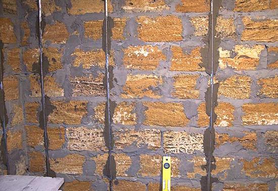 Маяки для выравнивания стен в санузле