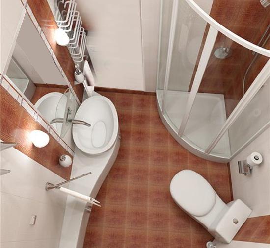 Дизайн небольшого санузла с душевой кабиной